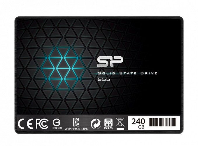 SILICON POWER SSD S55 240GB, 2.5, SATA III, 550-450MB/s 7mm, TLC SP240GBSS3S55S25