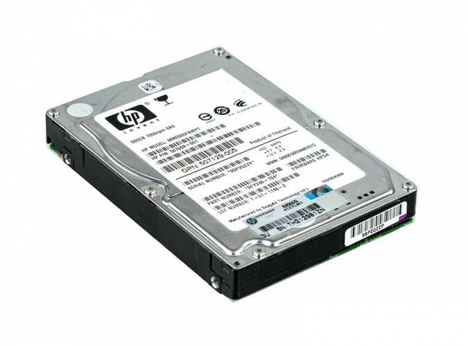 HP used SAS HDD 507609-001, 500GB, 6G, 7.2K DP, 2.5 507609-001