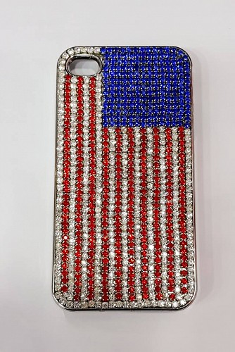 Moshi iGlaze 4 Slim Hardshell Case USA Flag for iPhone 4
